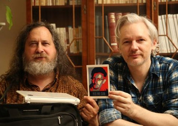 Richars Stallman y Julian Assange