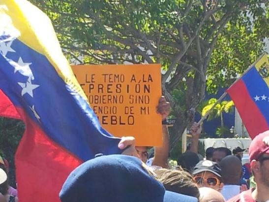 Protesta contra Cuba