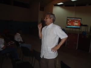 Rubén Pereira, durante el Conversatorio ALBA-TCP Misión Sucre
