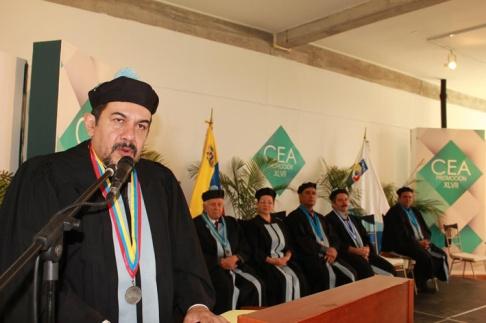 La ceremonia estuvo presidida por las autoridades del IVIC